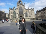 Me outside a church on the Royal Mile in Edinburgh